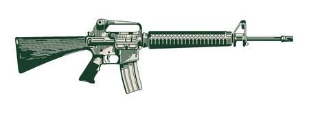 automatic: image of a modern automatic rifle