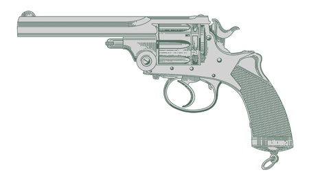 The image of an ancient revolver