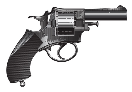 The image of an ancient revolver Vector