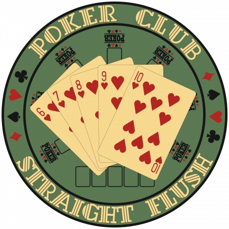 The image of Symbol club poker Stock Vector - 14076214