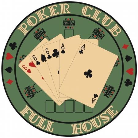 poker card: The image of Symbol club poker