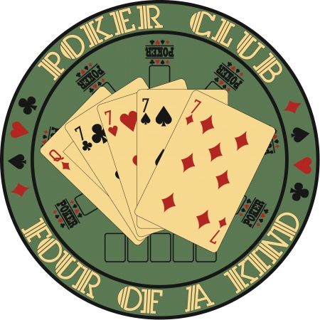 red dice: The image of Symbol club poker
