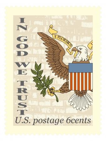 La imagen del vector de América sello