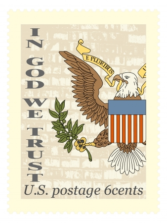 great seal: The vector image American stamp