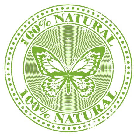 The image of a 100  natural stamp Stock Vector - 14181378
