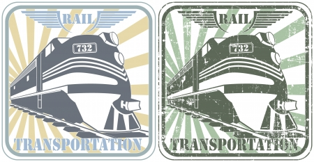 The image of Rail transportation stamp
