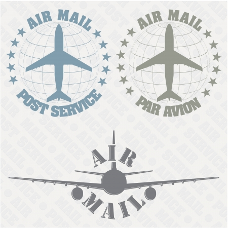 airmail: The image of a Set of stamps air mail