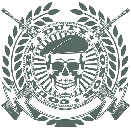 skull tattoo: The vector image Army symbol Illustration