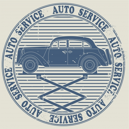 The vector image of Auto service stamp