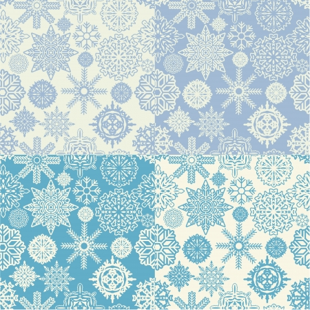 The image of Background of snowflakes seamless Stock Vector - 14181528
