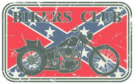 The vector image of Bikers club stamp Vector