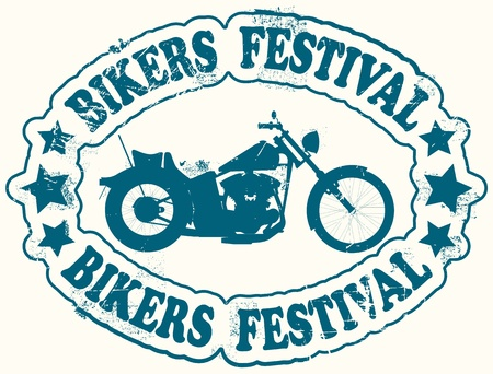 The vector image of Bikers festival stamp Vector