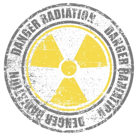 danger of radiation: The image of danger radiation stamp