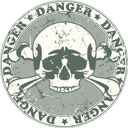 danger symbol: The image of Danger stamp Illustration