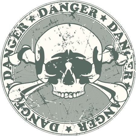 danger: The image of Danger stamp Illustration