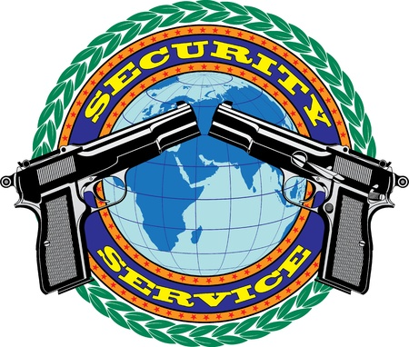 security service: The vector image of Emblem Security Service