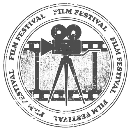 The image of Film festival stamp Vector