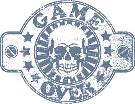 consolidation: The image of Game over stamp Illustration