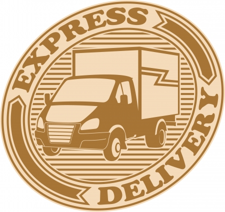 online logo: The image of Express delivery symbol