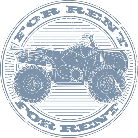 The image of For rent stamp Vector