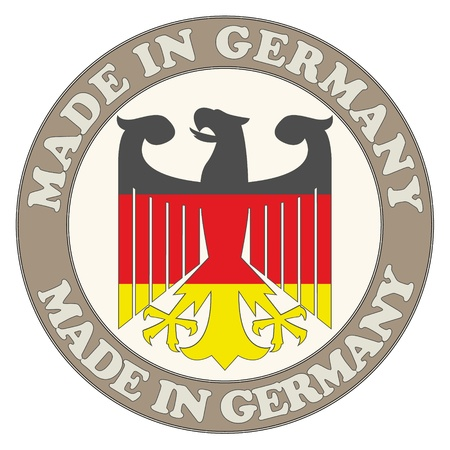 The image of Made in Germany symbol Illustration
