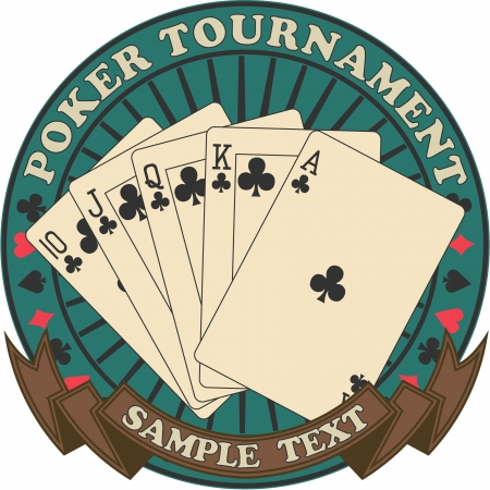 The image of Poker tournament symbol Illustration