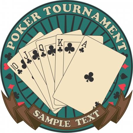 The image of Poker tournament symbol Illustration