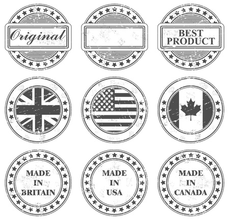 The image Grunge stamps design Vector
