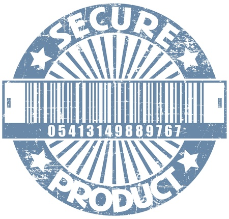 The image Secure product stamp Stock Vector - 14233890