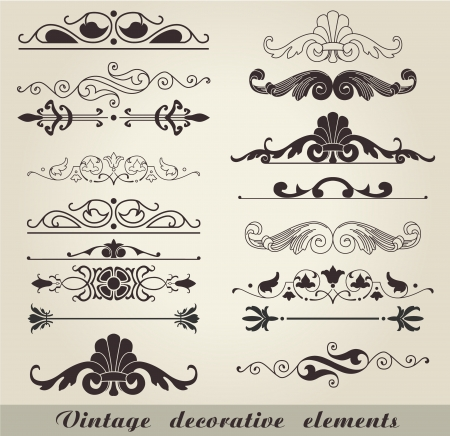 The vector image of Vintage decorative elements Vector