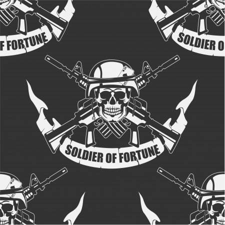 The vector image Army background a Seamless