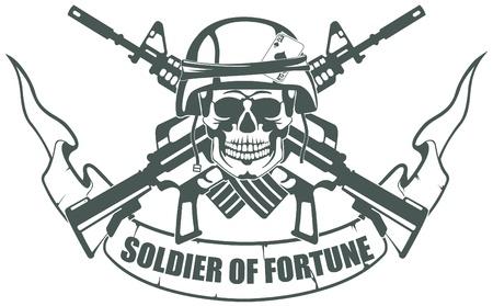 El Soldado de la Fortuna imagen vectorial Ilustración de vector