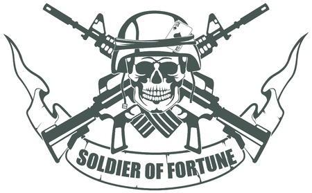 military helmet: The vector image Soldier of Fortune