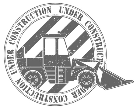 The image Stamp under construction Vector