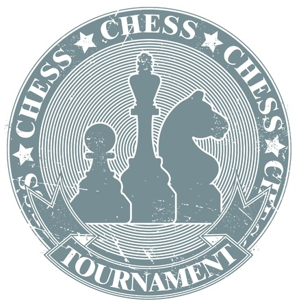The vector image Chess tournament stamp Stock Vector - 14404762