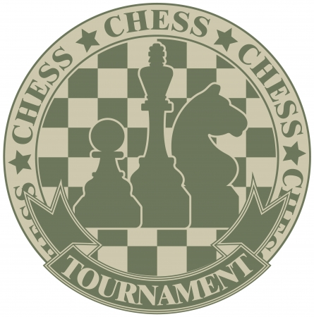 The vector image Chess tournament symbol Vector
