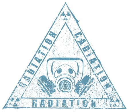 deadly danger sign: The vector image of radiating stamp