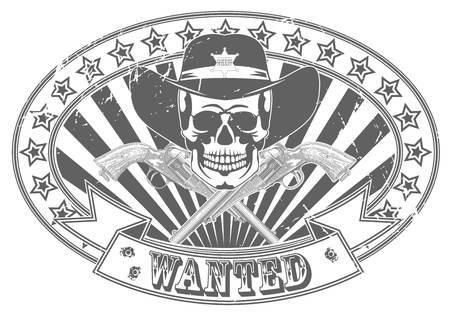 The vector image of Wanted stamp Vector