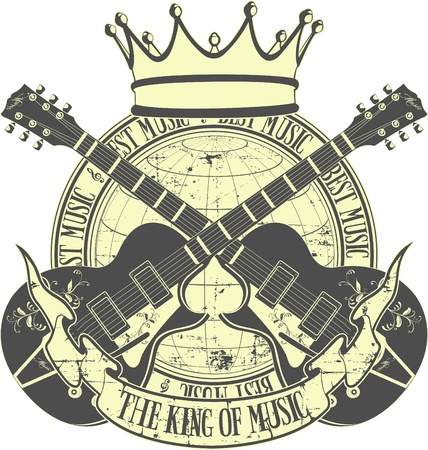The vector image of king of music