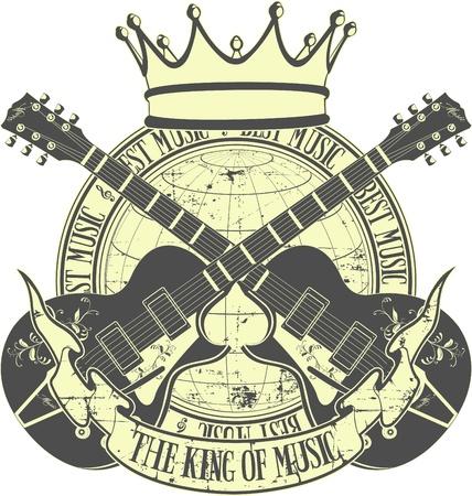 fragmentary: El vector de imagen de rey de la m�sica