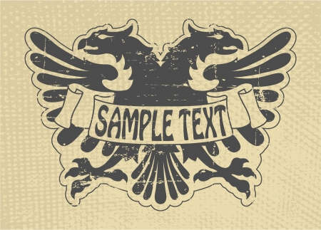 The vector image Heraldic stamp Stock Vector - 14483560