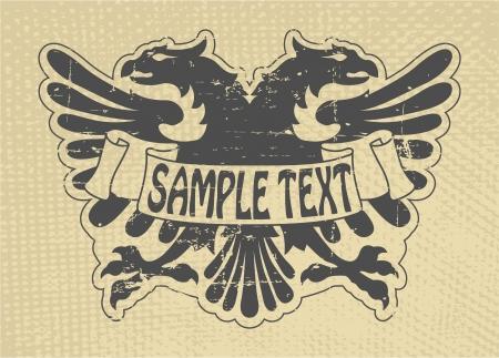 The vector image Heraldic stamp Vector