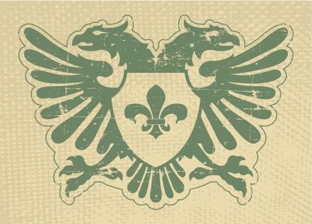 The vector image Heraldic stamp Stock Vector - 14483562