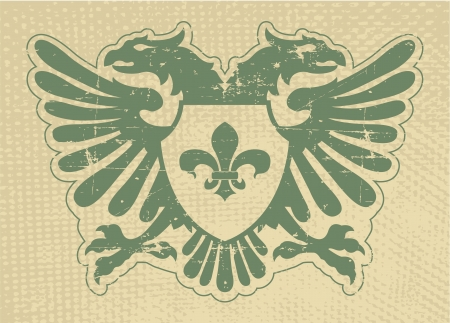white coat: The vector image Heraldic stamp