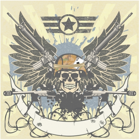 special forces: The vector image of color Military emblem Illustration