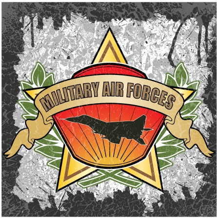 air force: The vector image of color Military air forces symbol