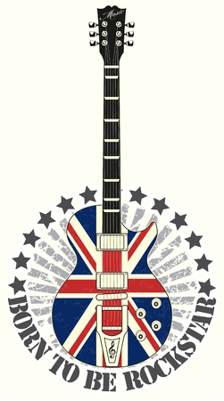 guitarists: The vector image Stamp born to be rock star