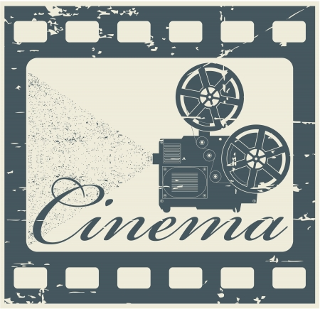 movie projector: The vector image stamp cinema