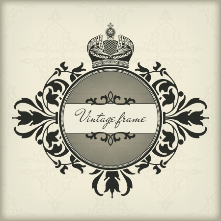 The vector image Vintage frame with crown Stock Vector - 14483590