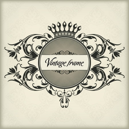 The vector image Vintage frame with crown Stock Vector - 14483593